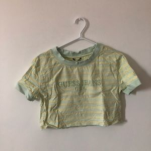 Tops - A$AP Rocky x Guess vintage striped cropped tee